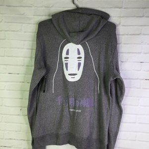 Spirited Away No Face Logo Full Zip Hoodie Mens M